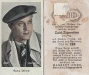 марка ретро ( Brifmarken )  Артист Ханс  Штюве 1920 - 1937