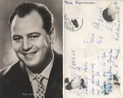 почтовая  карточка 1920 -1937  Артист  фред  Бертелманн с  перепиской.