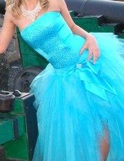 продам выпускное платье бирюзового цвета
