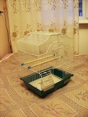 Клетка для птиц размерами 28х21х38(h)см